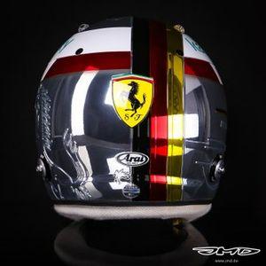 Sebastian Vettel, capacete para o GP da Itália
