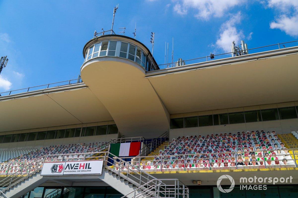 Aspectos del circuito de Monza