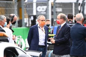 Prince Albert II of Monaco on the grid with Stefano Domenicali, Chief Executive FOM