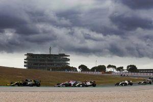 Esteban Ocon, Renault F1 Team R.S.20, Lance Stroll, Racing Point RP20, Antonio Giovinazzi, Alfa Romeo Racing C39, George Russell, Williams FW43, and Romain Grosjean, Haas VF-20