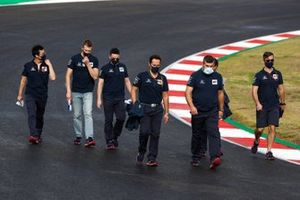 Daniil Kvyat, AlphaTauri, walks the track