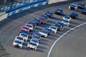 Chase Briscoe, Stewart-Haas Racing, Ford Mustang Ford Performance Racing School and Harrison Burton, Joe Gibbs Racing, Toyota Supra Morton Buildings/DEX Imaging