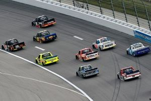 Chandler Smith, Kyle Busch Motorsports, Toyota Tundra JBL and Christian Eckes, Kyle Busch Motorsports, Toyota Tundra Safelite AutoGlass