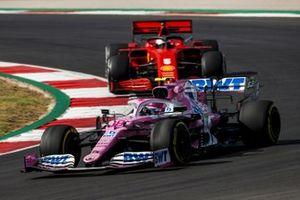 Lance Stroll, Racing Point RP20, Sebastian Vettel, Ferrari SF1000