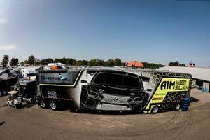 #12 AIM Vasser Sullivan Lexus RC-F GT3, GTD: Frankie Montecalvo, Townsend Bell transporter