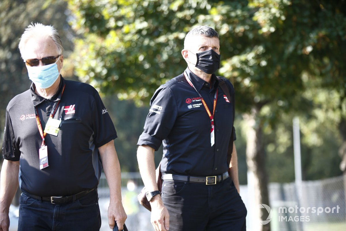 Guenther Steiner, Team Principal, Haas F1 and Gene Haas, Owner and Founder, Haas F1