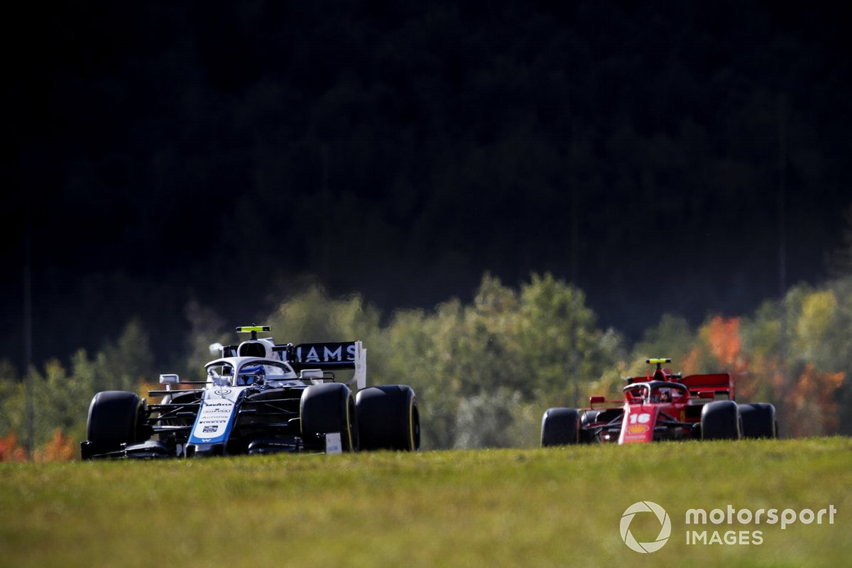 Nicholas Latifi, Williams FW43, Charles Leclerc, Ferrari SF1000