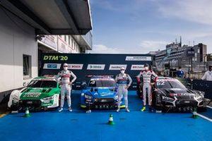 Pole sitter Robin Frijns, Audi Sport Team Abt Sportsline, Nico Müller, Audi Sport Team Abt Sportsline, Ferdinand Habsburg, Audi Sport Team WRT