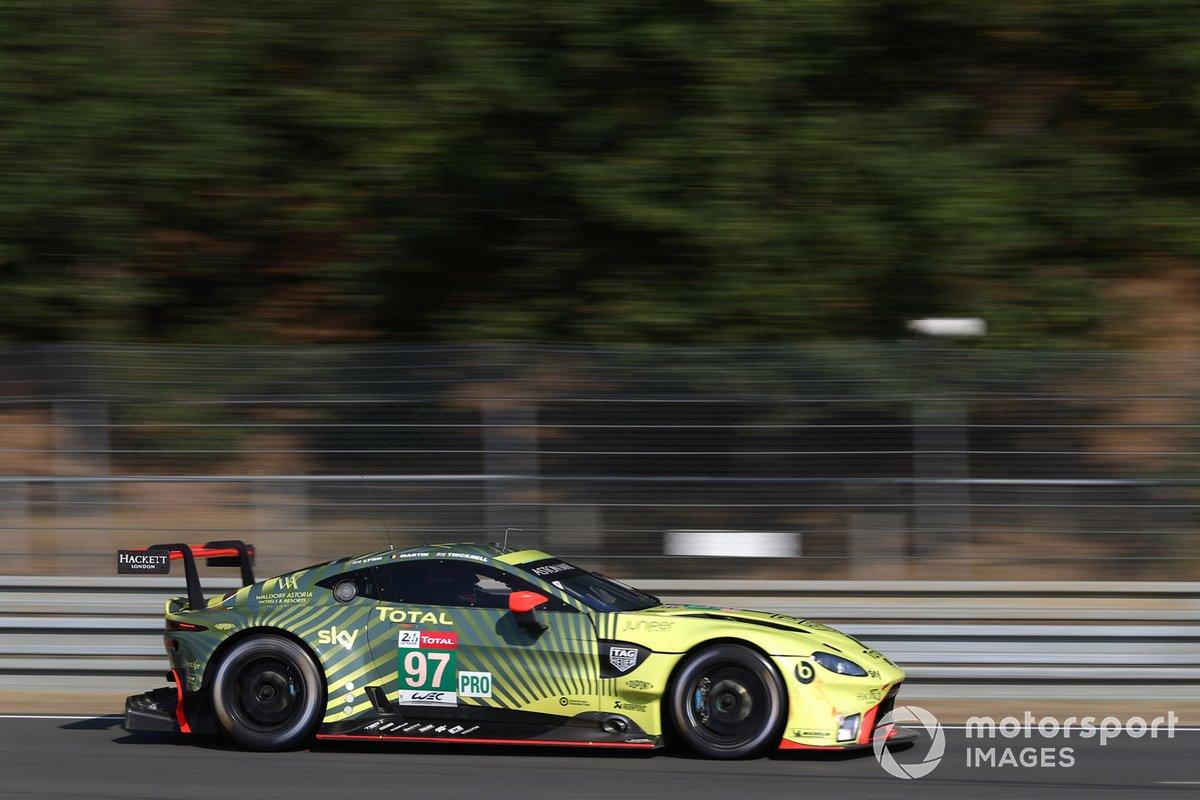#97 Aston Martin Racing Aston Martin Vantage AMR: Alex Lynn, Maxime Martin, Harry Tincknell