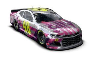 Sonderdesign: Jimmie Johnson, Hendrick Motorsports, Chevrolet Camaro, für Johnsons letztes NASCAR-Rennen in Phoenix 2020