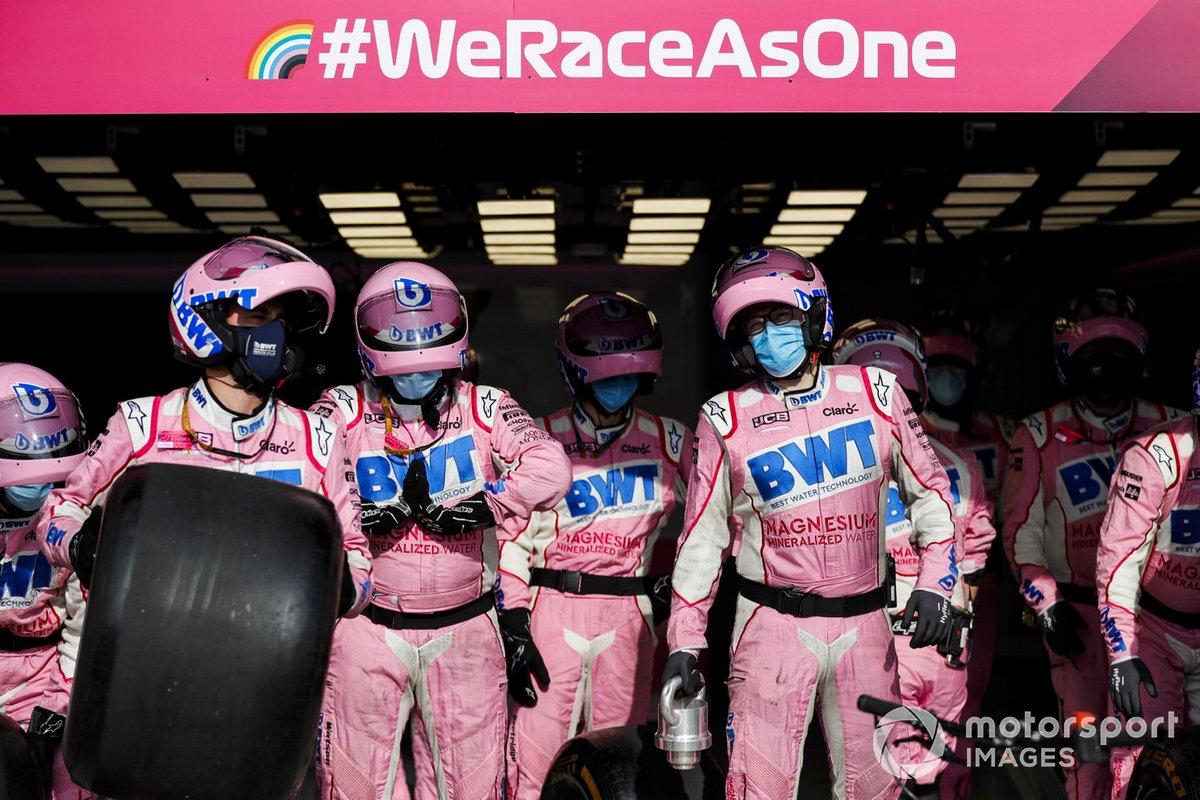Práctica de parada en boxes de Racing Point