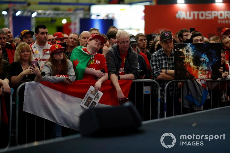 Fans in front of the Autosport stage