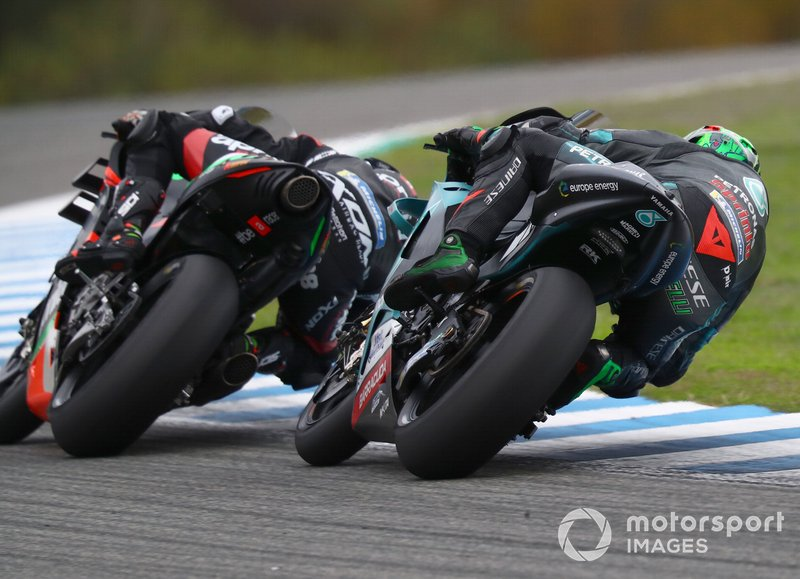 Bradley Smith, Aprilia Racing Team Gresini, Franco Morbidelli, Petronas Yamaha SRT