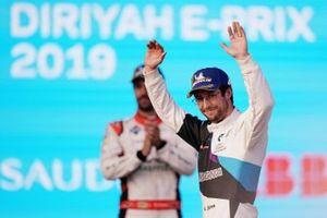 Alexander Sims, BMW I Andretti Motorsports, BMW iFE.20 celebrates on the podium