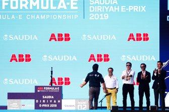 Michael Andretti, Chief Executive Officer Presidente di Andretti Autosport, sul podio