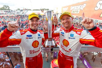 Podium: winners Scott McLaughlin, Alexandre Prémat, DJR Team Penske