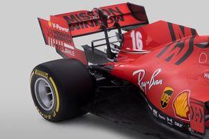 Vue détaillée de l'arrière de la Ferrari SF1000
