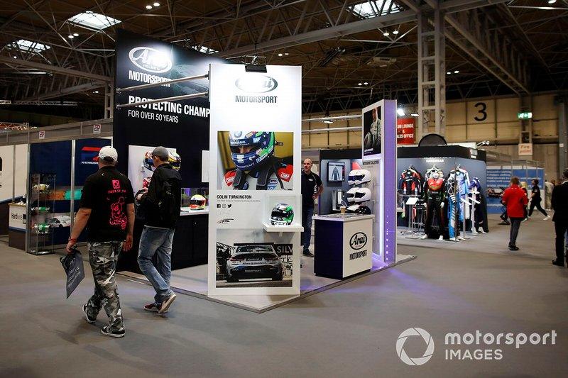 The Arai Helmets stand at Autosport International 2020