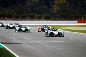 Mitch Evans, Jaguar Racing, Jaguar I-Type 4 Lucas Di Grassi, Audi Sport ABT Schaeffler, Audi e-tron FE06, James Calado, Jaguar Racing, Jaguar I-Type 4