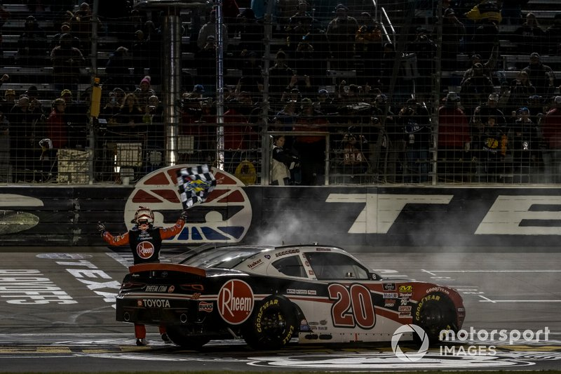 Race winner Christopher Bell, Joe Gibbs Racing, Toyota Supra Rheem