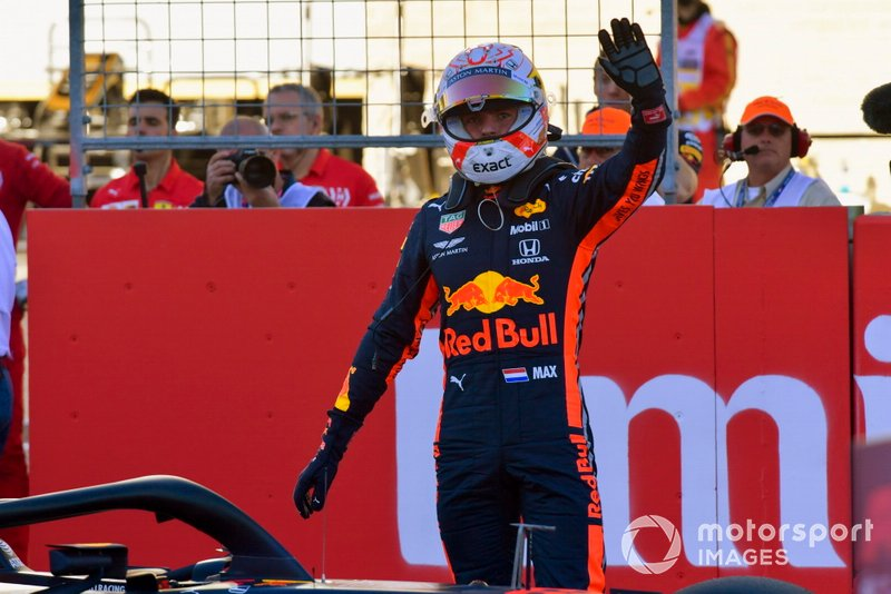 Max Verstappen, Red Bull Racing, in griglia di partenza, dopo le Qualifiche