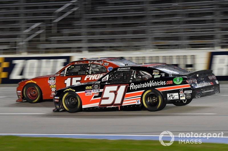 Stefan Parsons, JD Motorsports, Chevrolet Camaro TeamJDMotorsports.com, Jeremy Clements, Jeremy Clements Racing, Chevrolet Camaro RepairableVehicles.com