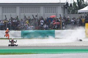 Johann Zarco, Team LCR Honda crashes