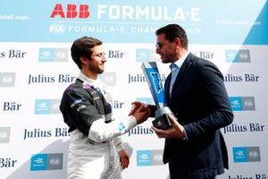 Alexander Sims, BMW I Andretti Motorsports, is presented with the Pole Position award
