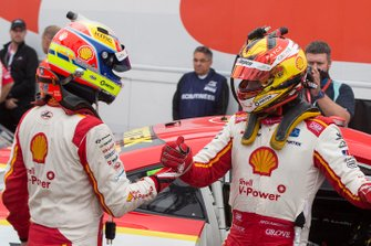 2. Scott McLaughlin, DJR Team Penske Ford, 3. Fabian Coulthard, DJR Team Penske Ford