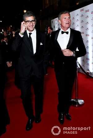 Presenter David Coulthard (right)