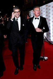 Presenter David Coulthard (right)