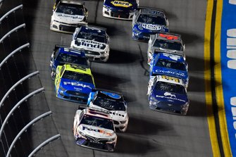 Denny Hamlin, Joe Gibbs Racing, Toyota Camry FedEx Express and Ryan Newman, Roush Fenway Racing, Ford Mustang Koch Industries