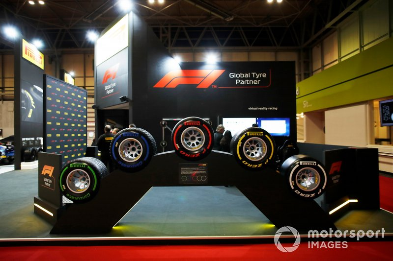 The range of Pirelli F1 tyres