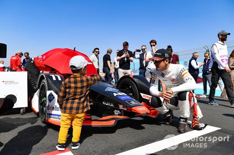 Lucas Di Grassi, Audi Sport ABT Schaeffler, y su hijo Leonardo