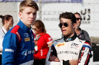F2 champion Nyck De Vries, ART Grand Prix, and F3 champion Robert Shwartzman, Prema Racing