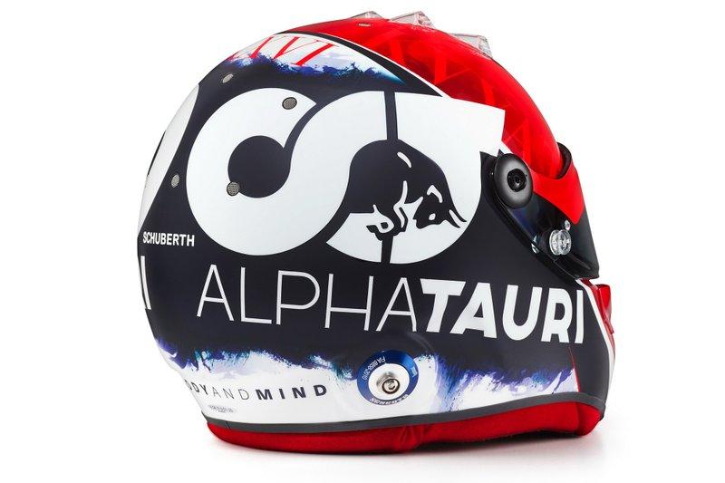 Le casque de Daniil Kvyat, AlphaTauri