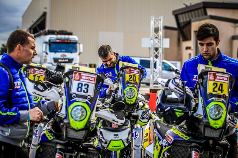 Sherco Racing during 2020 Dakar Scrutineering at Le Castellet, France