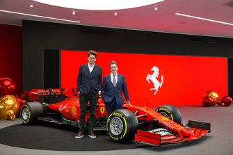 Mattia Binotto, Team Principal Ferrari and Louis Camilleri, Ferrari Chairman at the Ferrari