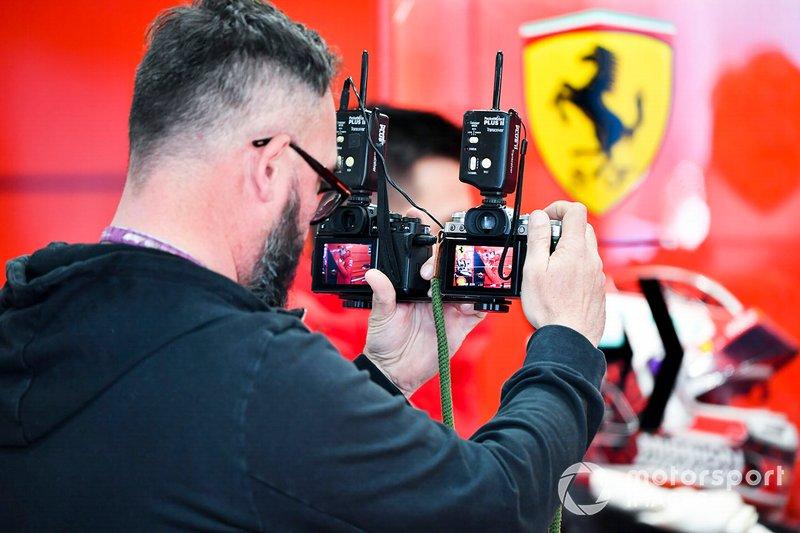 Cameraman in the garage