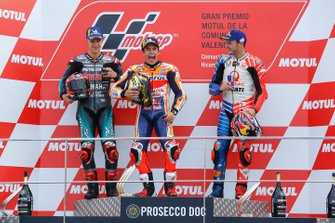 Podium: race winner Marc Marquez, Repsol Honda Team, second place Fabio Quartararo, Petronas Yamaha SRT, third place Jack Miller, Pramac Racing