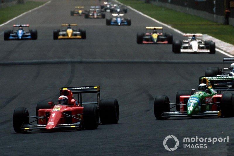 Alain Prost, Ferrari 641, Alessandro Nannini, Benetton B190