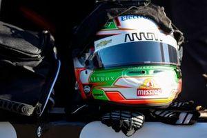 Patricio O'Ward, Arrow McLaren SP Chevrolet helmet and gloves