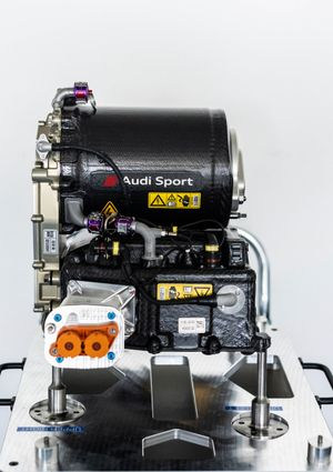 Detalle del motor del Audi RS Q e-tron