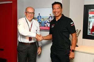Razlan Razali, team principal RNF Racing, Carmelo Ezpeleta, PDG Dorna Sports