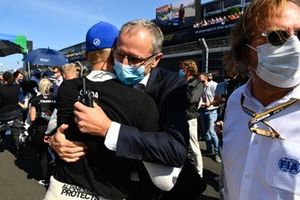 Stefano Domenicali, CEO, Formula 1, Mick Schumacher, Haas F1, on the grid
