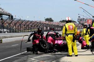 Helio Castroneves, Meyer Shank Racing Honda, Pit Stop