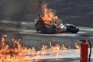 Crash at turn 2