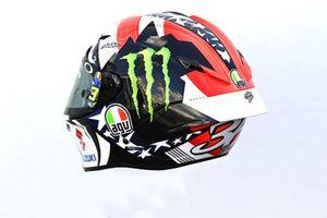 Helm: Joan Mir, Team Suzuki MotoGP, für den GP Amerikan 2021 in Austin