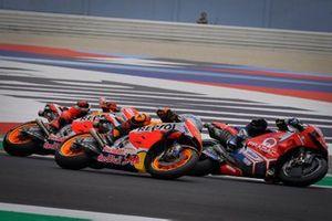 Jorge Martin, Pramac Racing, Pol Espargaro, Repsol Honda Team, Marc Marquez, Repsol Honda Team