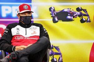 Kimi Raikkonen, Alfa Romeo Racing, in de persconferentie